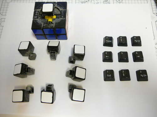 keyboard keys rubiks cube