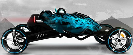 x-t-rex zero emission concept racing car by bhushan